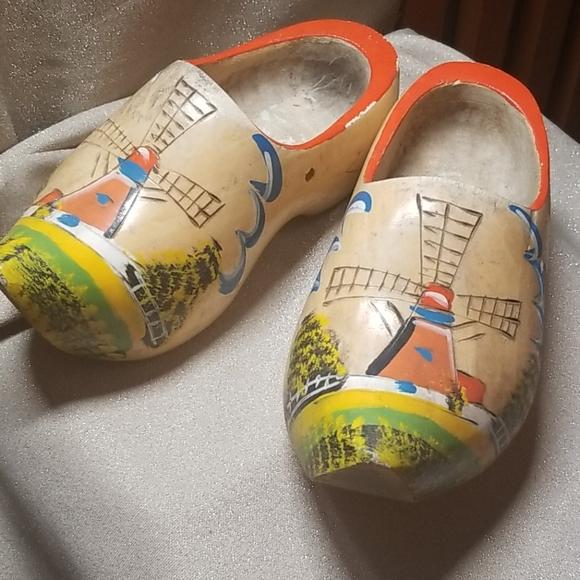 Vintage Other - Vintage Pair Dutch Wooden Shoes